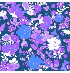 Seamless floral background lilac and white vector
