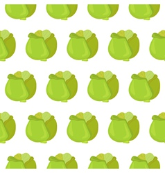 Seamless pattern with cabbage vector image vector image