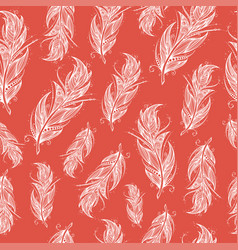 seamless pattern with tribal feather vector image vector image