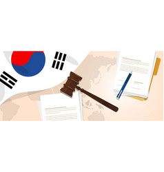 South korea law constitution legal judgment vector