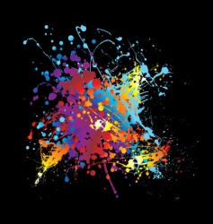 Splat ink rainbow vector