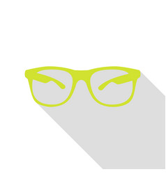 sunglasses sign pear icon with flat vector image vector image