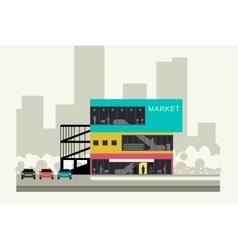 Supermarket on the roadside vector image vector image