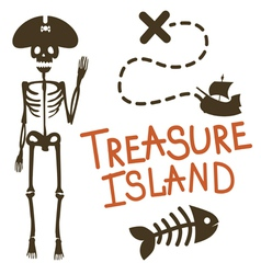 Treasure island pirate design vector