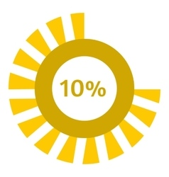 Web preloader 10 percent icon flat style vector