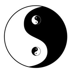 Ying yang symbol vector image