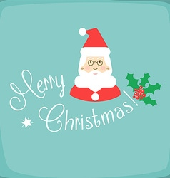 Merry Christmas with Santa Claus vector image