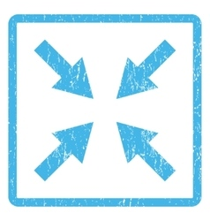 Compress arrows icon rubber stamp vector