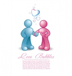 male and female holding hands vector image