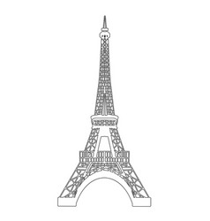 Eiffel tower isolated on white vector