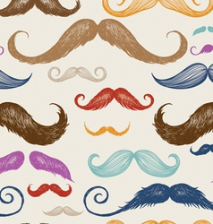 Vintage mustache seamless pattern vector
