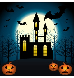 Halloween scenery vector