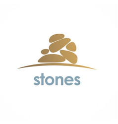 stones spa logo vector image