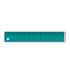 Ruler measuring device icon image vector