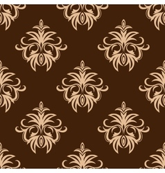 Brown and beige seamless pattern vector