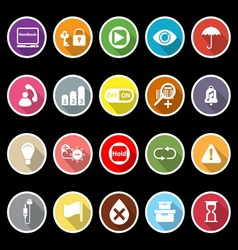 Home use machine sign flat icons with long shadow vector