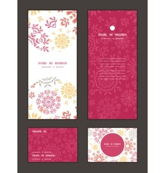 Folk floral circles abstract vertical frame vector