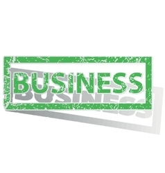 Green outlined business stamp vector