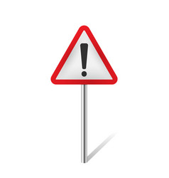 Warning traffic sign isolated vector