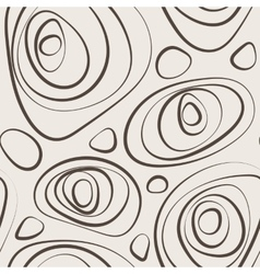 Seamless abstract pattern of curled circles vector