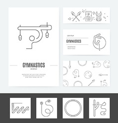 Rhythmic gymnastics business set vector