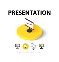 Presentation icon in different style vector