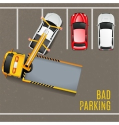 Bad parking top view background vector