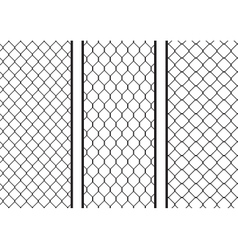 Wire fence seamless texture black silhouette set vector