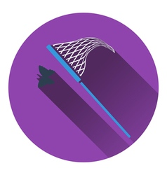Icon of butterfly net vector