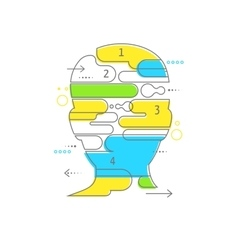 Brain creative mind man head infographics vector