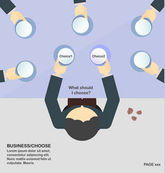 business people choose the chioce vector image