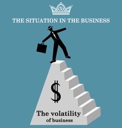 Businessman at the top of the pyramid vector