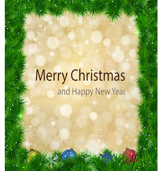 christmas background with shiny magic fires vector image vector image