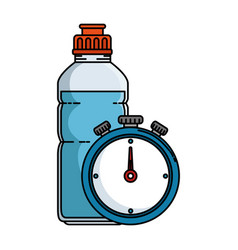 chronometer timer with bottle vector image