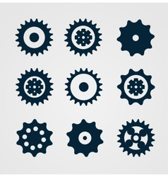 Cogwheel set vector image
