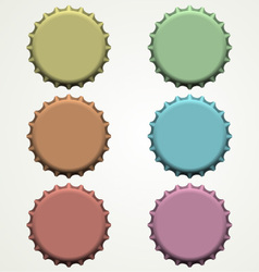 colorful bottle caps vector image vector image