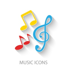 Colorful Stylish Music Icons vector image vector image