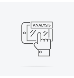 Data Analysis Icon Flat Design vector image
