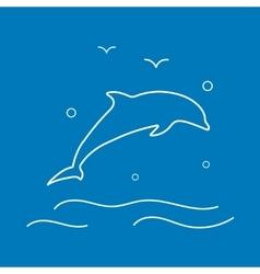 Dolphin Line Icon vector image