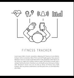 Fitness activity tracker vector