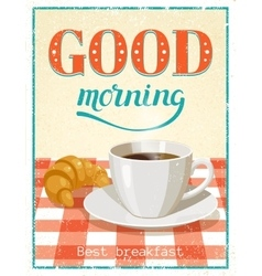 Good morning poster vector