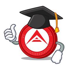 graduation ark coin character cartoon vector image