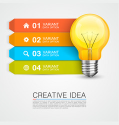 graphic information target with idea vector image vector image
