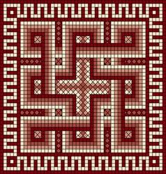 Greek meander ornament vector