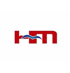 HM Logo Graphic Branding Letter Element vector image vector image