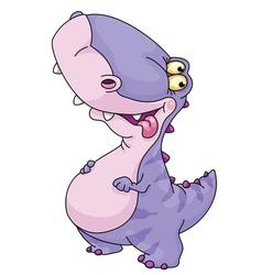 Kid dinosaur vector