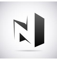 Logo for letter n design template vector