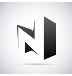 logo for letter N Design template vector image