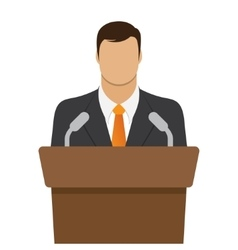 orator speaking from tribune vector image vector image