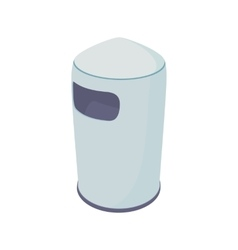 Outdoor bin icon cartoon style vector